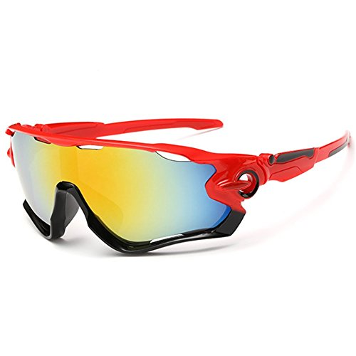 Z-P Unisex Outdoor Sports Style Cycling Color Coating Anti-explosion UV400 Sunglasses 68MM