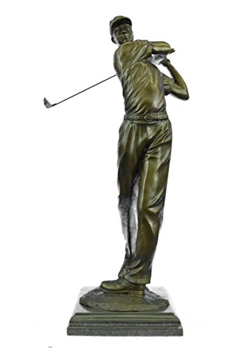 Rare Bronze à la main Sculpture Bronze Statue Ben Hogan Homme golfeur Sports Memorabilia Golf Club Art Pga Art 23 Ukyrd-791- collection Décor cadeau