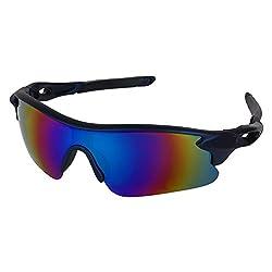 Zyaden Navy Blue Wraparound Sport Sunglasses 31
