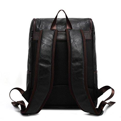 LAIDAYE Männer Spielraum-Rucksack Schultertasche Rucksack Reisetasche Black