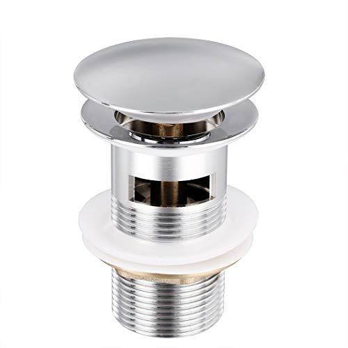 Buyi-World Universal Ablaufgarnitur für Waschbecken Wasserhahn, Messing Ablassventil POP UP Ventil ohne Überlauf