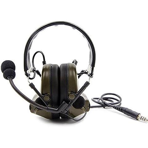 Casco Orejeras de disparo Electronical/Sport protectores de oído para protección de los oídos con diadema ajustable técnica disponible para colocar sobre