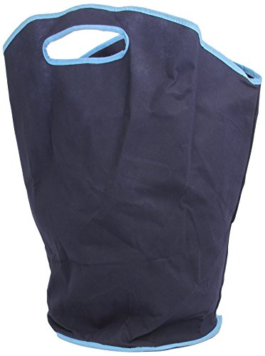 H and L Russel Laundry Hamper with Handles, Marine  Blue