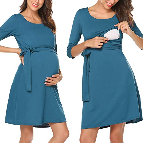 Abiti donna vestito da maternità abito di maternità per allattamento abito di gravidanza abito premaman maternità elegante
