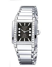 Esprit - ES900532002 - Montre Femme - Quartz Analogique - Cadran Noir - Bracelet Acier Argent