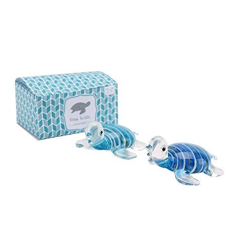 CGB Giftware Glas Schildkröte (3.2 x 7 x 5.6cm) (Blau)