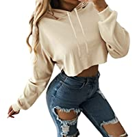 Luckycat Sudaderas Mujer sin Capucha,Suéter de Manga Larga Colorblock de Mujer Camis Absolute