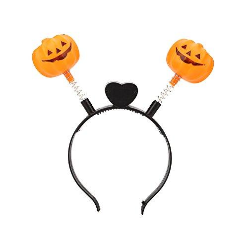 Gladle Halloween LED leuchten Haarband Kopfband Kürbis-blinkende Partei, Kürbisfedermuster (Halloween-kostüm Aus Led-leuchten)
