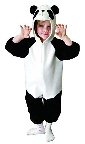 Panda Billig Kostüm - Foxxeo Panda Kostüm für Kinder Größe 98