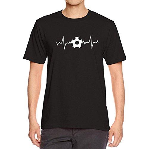 T-Shirts,Honestyi 2018 Neueste Modell Herren Kreativ Entwurf 'Fußball Baby' Drucken Schwarz T-Shirts mit Rundhalsausschnitt Sweatshirts Blusen,Baumwolle,Weich und Luftig,S-XXXL (L, Schwarz) (Snoopy Modell)
