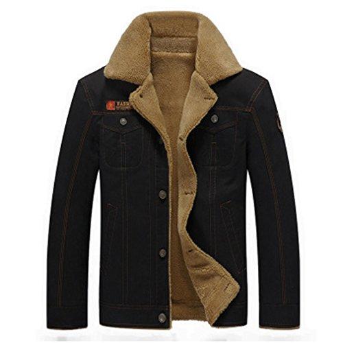LnLyin Herren Jacke Winter und Herbst Herren Jacken Jugend Lässige Baumwolle Große Größe Plus Vineyard Army Dress Up
