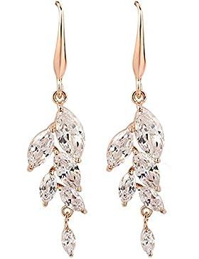 OBSEDE Einzigartige Form Klare Zirkonia Baumeln Ohrringe Für Frauen
