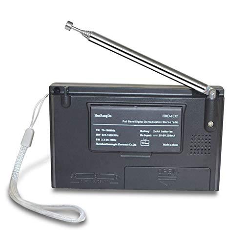 Minzhi Tragbares Breitband Digital-Tuning Multiband-Stereo-Tuner MW/UKW/MW/SW-Radio Rec Steuerung Kurzwellenempfänger