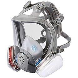 ENJOHOS Masque Complet Masque Intégral de respirateur Masque Respiratoire de Protection- 2 Filtres Intégrés Certifiés CE en Silicone pour Peinture, Poussière,Soudage, Sciage