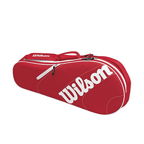 Wilson Advantage Team III red/white 3er Schlägertasche (Tennis-taschen Wilson)