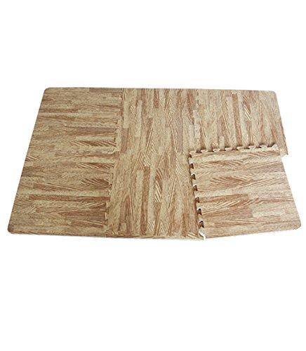 KKCF Imitación madera espesamiento burbuja alfombra almohadilla, esterillas de bebé, sala de estar, los niños de arrastre alfombra, 60 * 60 cm Antideslizante ( Color : B , Tamaño : 60*60cm )