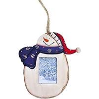 OVINEE Muñeco de Nieve Adornos de Madera Marco de Fotos de Navidad rústico Decoración ...