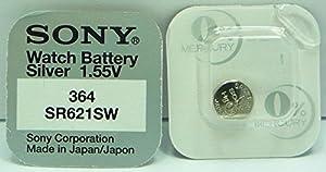 Sony 364 SR621SW - Lote de 10 pilas para reloj (óxido de plata, 0% mercurio) marca Sony