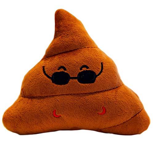 Bescita6 Kreativ Poop Plüsch Spielzeug Lustig Gesicht Ausdruck Kissen Büro Kreative Kacke Komisch Plüschtier 25CM