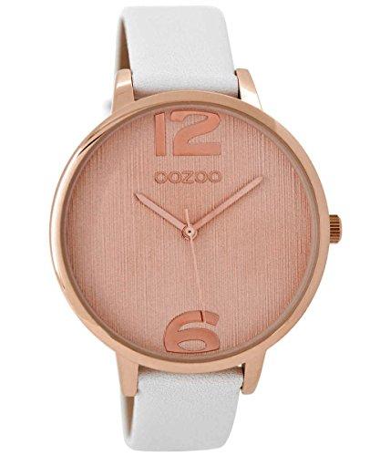 Oozoo Damen-Armbanduhr Weiß/Roségold 42 mm C8926