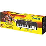 Casio SA77 Mini Portable Keyboard with Adaptor and Free Rudra Stationery Box