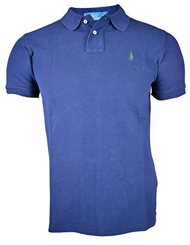 Ralph Lauren Polo Poloshirt Custom fit SMALL Pony/Blau Grün SizeMap Medium
