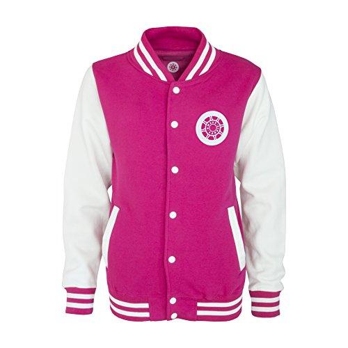 Sweet80 Suck It Up Varsity Jacke - Pink/Weiß - 2XL