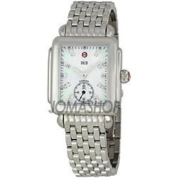 Michele Michele Damas Deco-16 Madre de Perla Diamante Dial Reloj