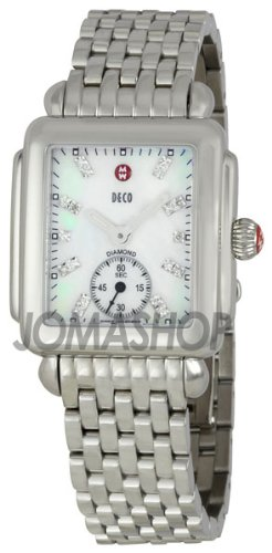 Michele Michele Decorative 16 Mother of Pearl Diamond Dial Ladies Watch MWW06 V000002