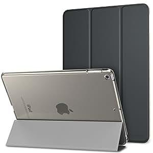 MoKo Smart Cover per Nuovo iPad 9.7 Pollici 2017/2018 - Ultra Sottile Leggero Custodia con Funzione di Auto Sveglia/Sonno con Retro Semi-trasparente Rigido per New Apple iPad 9.7 Inch 2017, Grigio Siderale