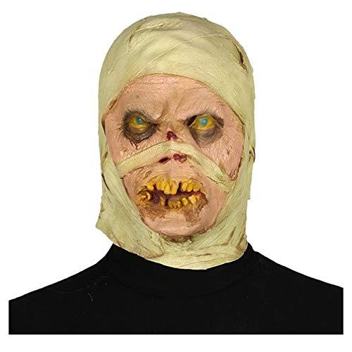 Kostüm Mumie Scary - UELEGANS Halloween Mumienmaske, Halloween Latexmaske Scary Bloody Blasting Augapfel Mumie 3D Neuheit Creepy Devil Kostüm Party Cosplay
