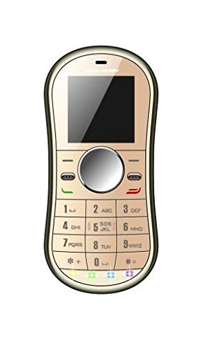 Whitecherry Spinner Keypad Phone Credit Card Size Spinner Mobile With Smooth Keypad Phone Gold