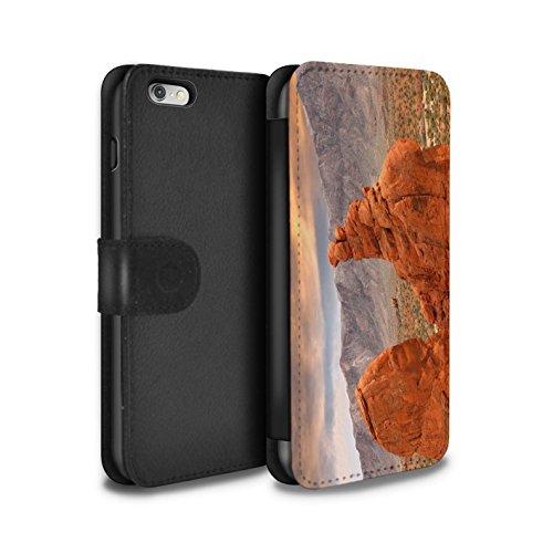 Stuff4 Coque/Etui/Housse Cuir PU Case/Cover pour Apple iPhone 6+/Plus 5.5 / Vallée Design / État du Nevada Collection Canyon Rouge Roche
