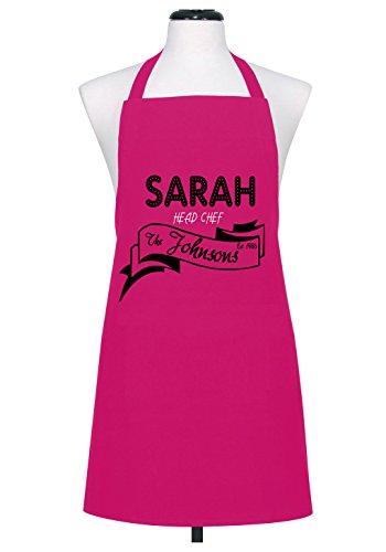 Personalizado con tu familia head chef delantal y poner un nombre a año 433255e39a86