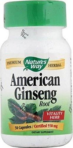Ginseng Americano 50 cápsulas de Nature\'s Way