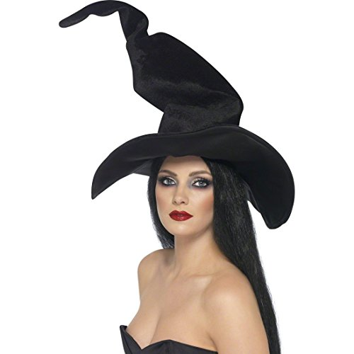 chwarz Halloween Hut Hexen Kostüm Zubehör Walpurgisnacht Spitzhut Halloweenhut Hexenhut Faschingshut (Zauberin Kostüm)