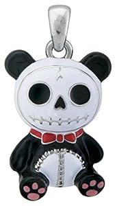 Furry Bones Skull Black Panda Bear Pandie Pendant Jewelry Accessory by YTC