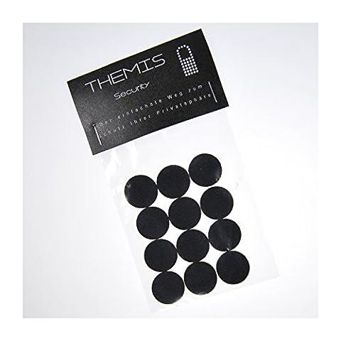 KAMKOVER von THEMIS Security – 12 Stk. Durchmesser 20mm Webcam Aufkleber - Zur Abdeckung von Kamera Linsen bei Laptops, Webcams, Tablets, Mobiltelefonen