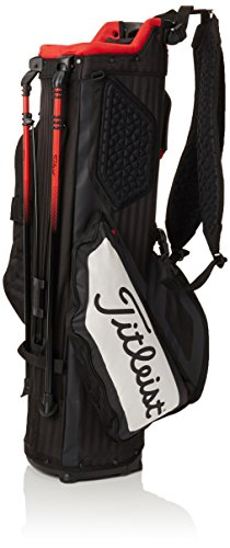 Titleist Players Golf Stand Bag – Ultra Lightweight – Double to Single Strap (4, Black/White/Red)