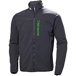 Helly Hansen Crew Softshell Jacket, Chaqueta deportiva para Hombre, Azul (Azul Grafito 994), Medium