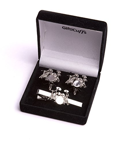 drum-kit-cuff-links-with-matching-tie-clip-gift-set-designed-by-drummers-for-drummers
