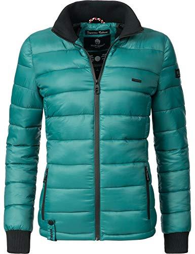 Marikoo Damen Winter-Jacke Steppjacke Fiona (vegan hergestellt) Ocean Green Gr. L