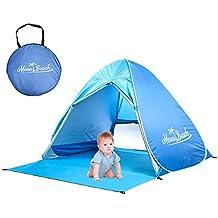 monobeach bebé playa tienda automática Pop Up Shade Cabana portátil UV Sol Refugio, azul