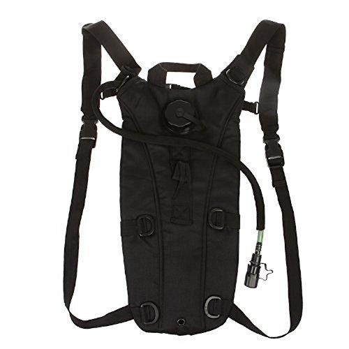 Tasche von Wasser Rucksack Portable Tasche für Radfahren Camping Hiking Fishing Rucksack Wasser kompakt 3L Schwarz