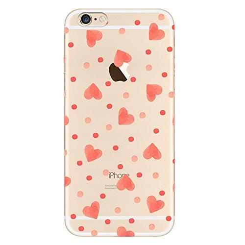 IPHONE SE 5 5S Hülle Meerjungfrau Ananas Liebe Muster TPU Silikon Schutzhülle Handyhülle Case - Klar Transparent Durchsichtig Clear Case für iPhone 5 /5S/SE hw17