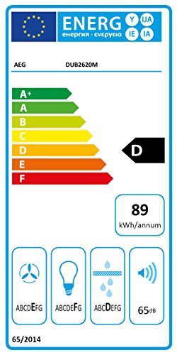 AEG DUB2620M Lower Easy Unterbau Dunstabzugshaube / zuverlässiger Dunstabzug / Abluft und Umluft / ideal als Abzugshaube / Breite: 59,9 cm / kompakte Dunsthaube