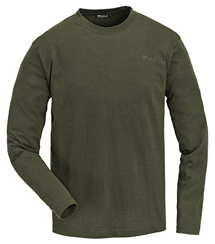 Pinewood Herren Langarm Shirt im Doppelpack Pullover, grün, M
