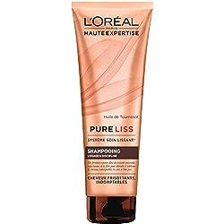 L'Oréal Paris Pure Liss Shampoing Cheveux frisés, Indomptables 250 ml
