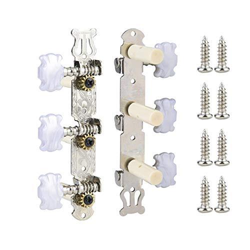 RiToEasysports Gitarren-Stimmwirbel, 2 Stück Klassische Kunststoff-Stimmwirbel Screw Tuner Mechanik Locking Key für E-Gitarre.