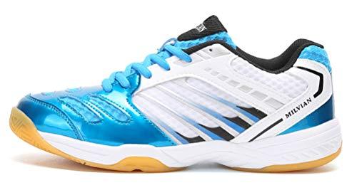 TQGOLD Scarpe da Badminton Scarpe da Squash Scarpe da Pallamano Scarpe da pallavolo Scarpe da Tennis Scarpe Indoor Multisport Uomo Donna Blu 41